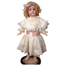 "Gorgeous Antique Kestner 174 Bisque Doll 21.5"" in Crispy Whites"
