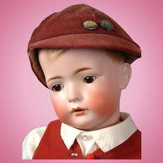 "BIG Tommy Tucker Antique Bisque Doll 25"" on Toddler Body by Bruno Schmidt"