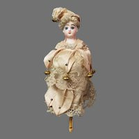 """""""All The Bells & Whistles!"""" 12.5"""" French Antique Marotte Doll by Francois Gaultier c. 1890 ~Original Costume, Plays 2 Melodies~"""