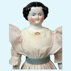 "Darling Smiling China Girl in Cute Gown 21.5"" -- A Classic China Lady With Wings!"
