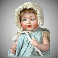 "Adorable & Rare All-Bisque Kestner Character Baby 8"" in Cute Costume"