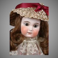 "Darling 17.5"" Limbach Antique Bisque Child Doll in Full Costume"