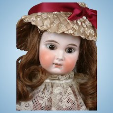 """Darling 17.5"""" Limbach Antique Bisque Child Doll in Full Costume"""
