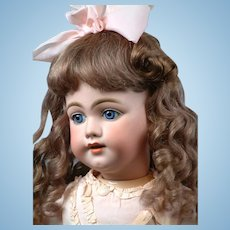 """29"""" The Most Beautiful SIMON & HALBIG 1009 Early Bisque Head Child Doll in Antique Dress circa 1900"""