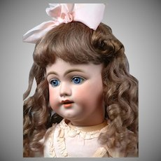 "29"" The Most Beautiful SIMON & HALBIG 1009 Early Bisque Head Child Doll in Antique Dress circa 1900"