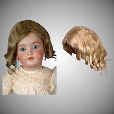 "Exquisite German Mohair Wig in Dark Blond ~14"" Circumference"