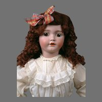 "Huge 33"" Simon & Halbig 1249 SANTA Antique Doll in Crispy Antique Whites--So Beautiful!"