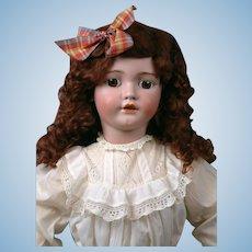 "Huge 33"" Simon & Halbig 1249 SANTA Antique Doll in Crispy Antique Whites--So Beautiful!"