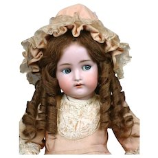 "23"" Adorable Kammer * Reinhardt Flirty Child With Original Dress & Human Hair Wig"