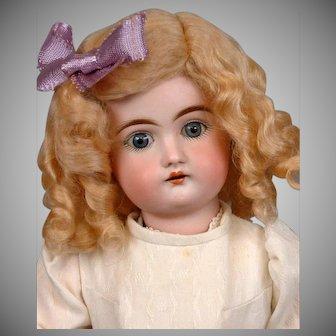 "14"" Kestner Antique Bisque Child Doll with Blond Wig"