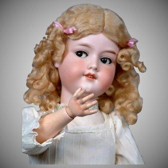 "27"" Rare  Armand Marseille Flirty Child With Antique Dress & MoHair Wig"