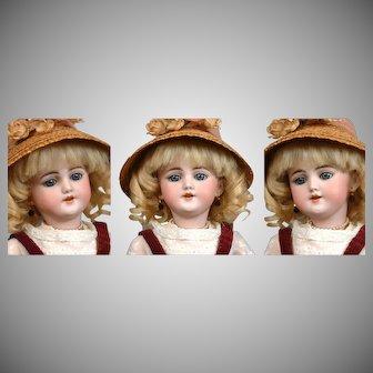 "*The Darling 16"" Santa* Antique  Simon & Halbig 1249  in Cute Schoolgirl Jumper"