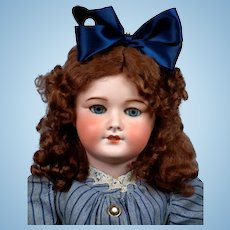 """Remarkable French 26"""" UNIS 301  Bebe Doll in Stylish Antique Ensemble"""