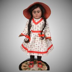 "*RARE* Simon & Halbig 949 Black Child Bisque Doll 17"" -- An Angel!"