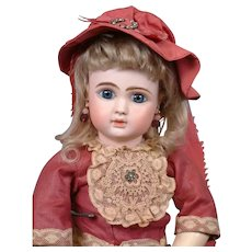"16.5"" JULES. N. STEINER French Closed-Mouth Bebe in Exceptional Condition--So Darling!"