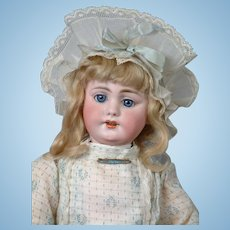 "18""  Beautiful All Original SIMON & HALBIG 1009 Early Bisque Head Child Doll  circa 1900"