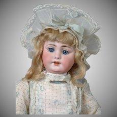 "18""  Beautiful All Original SIMON & HALBIG 1009 Early Bisque Head Child Doll  circa 1900"