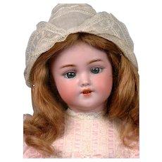 "Simon & Halbig 1249 ""Santa"" Antique Bisque Doll 15.5"" in Human Hair Wig"