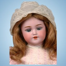 "Simon & Halbig 1249 ""Santa"" Antique Bisque Doll 15.5"" in Human Hair Wig"
