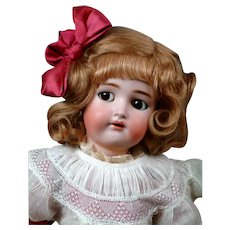 "Adorable 23"" Kammer & Reinhardt/ Simon & Halbig Flirty Child in Pretty Silk Dress!"