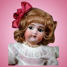 "Adorable 23"" Kammer & Reinhardt/ Simon & Halbig Flirty Child in Pretty Silk Dress!"