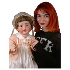 """LIFE-SIZED 30"""" Kestner 257 Antique Bisque Character Baby"""