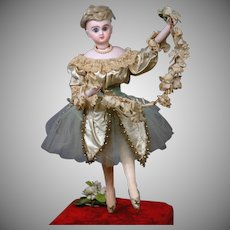 """18"""" French Musical Automaton by Roulet et Descamps,  """"The Prima Donna Ballerina"""" circa 1890 Featuring 5 Movements & Music"""