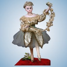 "18"" French Musical Automaton by Roulet et Descamps,  ""The Prima Donna Ballerina"" circa 1890 Featuring 5 Movements & Music"