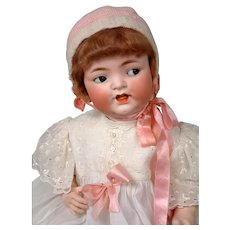 "FLIRTY Heubach Koppelsdorf 342 LIFE-SIZED Antique Bisque Baby 27"""