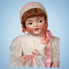 FLIRTY Heubach Koppelsdorf 342 LIFE-SIZED Antique Bisque Baby 27""