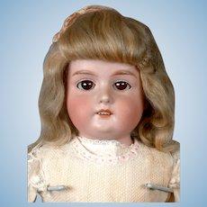 """Classic Armand Marseille 370 Antique Bisque Child Doll 22"""" in Original Wig"""
