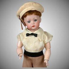 "Bruno Schmidt 2097 Antique Toddler Boy Doll 13"" - Tommy Tucker's Cousin!"