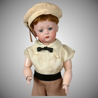 "Bruno Schmidt 2097 Antique Toddler Boy Doll 13"" - Tommy Tucker's Cousin!"