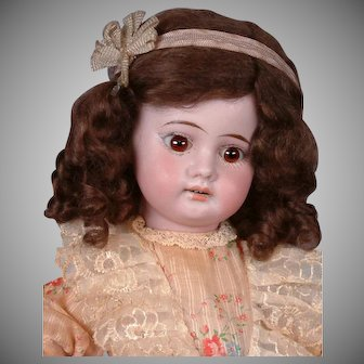 Precious Armand Marseille 1894 Antique Child Doll in Cute Costume 13.5""