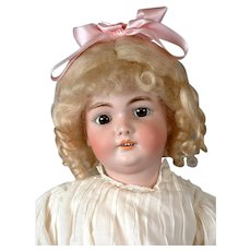 """CM Bergmann 24"""" Antique Bisque Child Doll on Exceptional Body -- What an Angel!"""