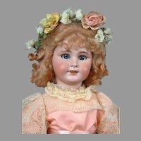 """Precious 24"""" DEP French Antique Doll in Pink Ensemble -- So Cute!"""