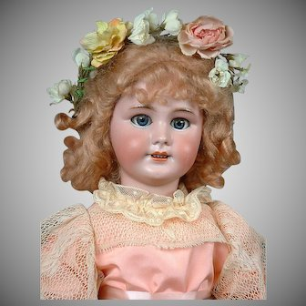 "Precious 24"" DEP French Antique Doll in Pink Ensemble -- So Cute!"