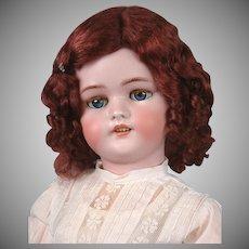 24' Darling Simon & Halbig 1078 Classic Bisque Antique Child Doll in White Antique Dress