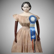 "Impressive 33"" Ludwig Greiner Papier Mache Doll with Provenance and Awards!"