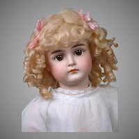 """21"""" Kestner Closed Mouth Pouty Doll circa 1890 in Antique Dress -- Excellent Condition!"""