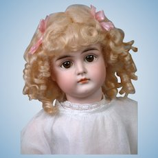 "21"" Kestner Closed Mouth Pouty Doll circa 1890 in Antique Dress -- Excellent Condition!"