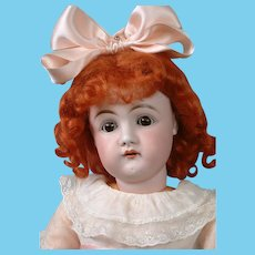 """Early Letter Kestner Antique Doll with Open Mouth 22.5"""" in Antique Dress"""