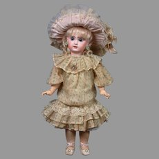 """22"""" Size 10 French Tete Jumeau Bebe All Antique Doll"""