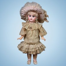 "22"" Size 9 French Tete Jumeau Bebe All Antique Doll"