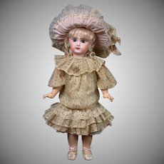 """22"""" Size 9 French Tete Jumeau Bebe All Antique Doll"""