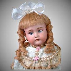 """Kammer & Reinhardt / Simon & Halbig Antique Bisque Doll 30"""" in Presentation Gown"""