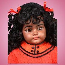 Rare  Black Simon & Halbig 739 Antique Doll in Antique Costume