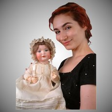 "All-Original Bahr & Proschild 585 Antique Character Baby 18"""