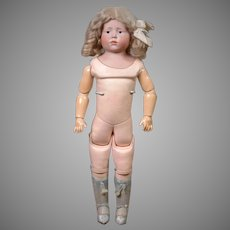 """16.5"""" Rare Kammer & Reinhardt Character Pouty 201 """"Marie"""" in Lovely Lacy Whites & Mint Pink Kid Body"""