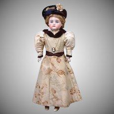 "15"" All Original Swivel-Head Square-tooth Kestner Fashion Doll with Silk Ensemble—PERFECT!"